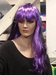 Long purple & black wig