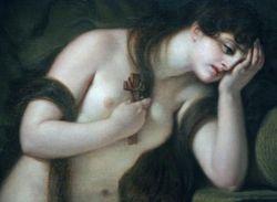 Greuze, Penitent Mary Magdalen, detail, Chrysler Museum, Norfolk