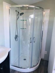 Replaced shower doors