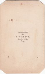 J. C. Reeve, photographer of Lambertville, NJ - back