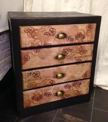 Steampunk chest of drawers