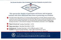 KIWANIS FIELD OF HONOR