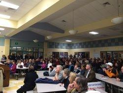 Dayton Oaks Elemetary School - Nearly 300 came!
