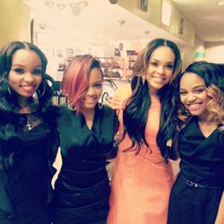 Sierra McClain, Lauryn McClain, Demetria McKinney & China McClain at the 21st annual Movieguide Awards at Hilton Universal City