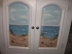 close- up on cabinet doors