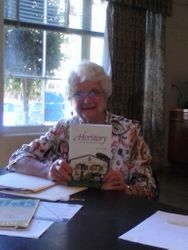 Author Mary Lou Parkersharing her book with us