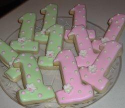 Number 1 Sugar Cookies