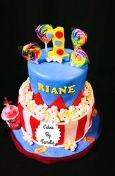 1st Birthday Carnival Cake