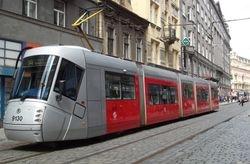Skoda T14 tram in Vodickova Street