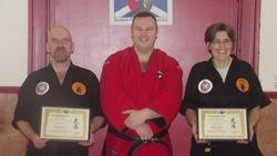 Presentation of Membership to Sensei Ali & Sensei Carol of Camerons School of Martial Arts