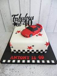 40th Birthday Car Cake