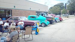 A few of the 15 Gentlemen Club members at Doc's car show