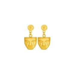 Aretes pequenos de mascara - Ethnic masc small dangling earrings