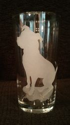 Sitting Pit Silhouette ~ Tall Glass