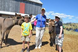 Reiki Master Susan Rouse with Keenan and Owen at Donkey Education Day