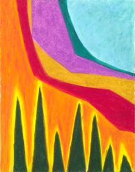 A Calming Influence, Oil Pastel, 11x14, Original Sold