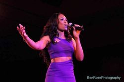 "Demetria McKinney Performing At The ""National Black American Film"" Event"