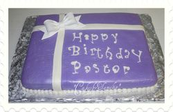 A Present for thePastor Cake