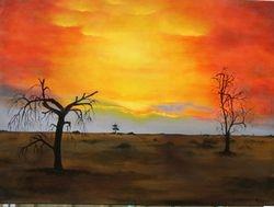 Sunset at Blanchetown   I/D 502D