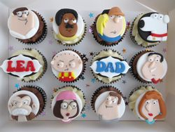 Family Guy cupcakes