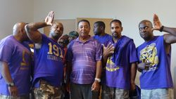 Dad and Kelvin with the Omega Psi Phi Fraternity, Inc.