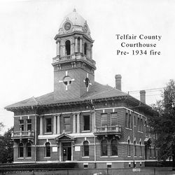 Telfair County Courthouse pre 1934 fire