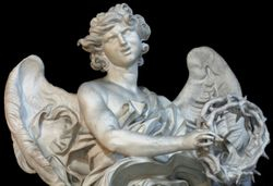 Bernini, Angel with the Crown of Thorns, S. Andrea delle Fratte