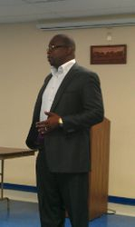 Pastor Holmes welcomes everyone