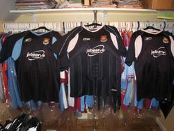 Reebok 2006/07 away shirt samples plus the chosen shirt in the middle