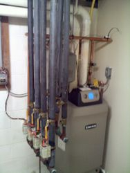 Installation of a new Weil McClain Gold boiler