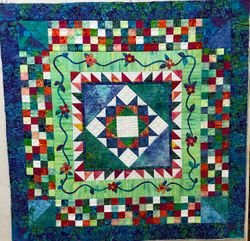 I love custom quilting!