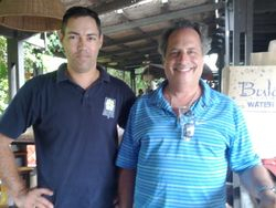 "With Jon Lovitz on set ""Bula Quo"""