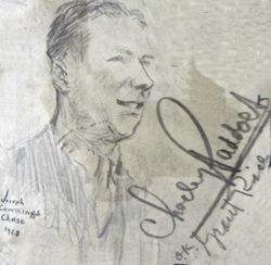 Joe Cummings Sketch (Autographed)