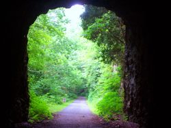 Train tunnel at Austinville