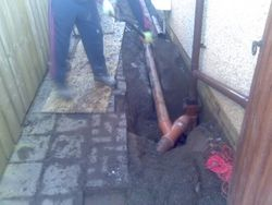 Underground drainage to finish.