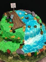 Waterfall Birthday Cake