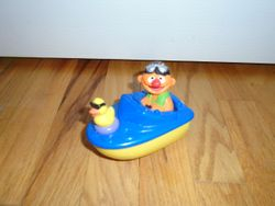 Mattel 1999 Sesame Street Ernie in a Wind Up Speed Boat - $10