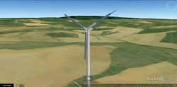 Wind Tower on google earth