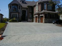 Driveway with Lighting Inserts