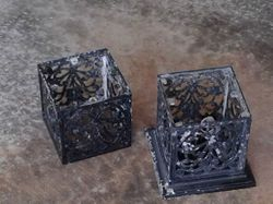 Old Outside Black Iron Light Fixtures