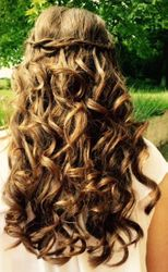 Waterfall plait and curls for this Prom style