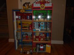 KidKraft Hometown Heroes Wooden Play Set- Fire Station, Furn & People - $120