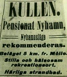 Pensionat Nyhamn 1913