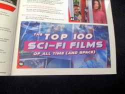 Banner for The Top 100 Sci-Fi Films of All Time (and Space) on Page of Table of Contents with Features in Starburst Magazine #473: The Top 100 Sci-Fi Films of All Time (and Space) Collectors? Edition