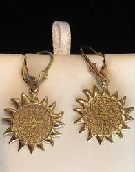14k sun swirl earrings