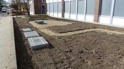Het slinger- tuin- pad