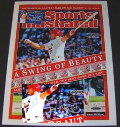 Albert Pujols Autographed May 22, 2006 Sports Illustrated 11x14 Photo