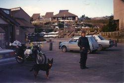 1990 Alpine Rally @ Perkins Flat - Henning & Eli at Cabramurra