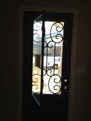 glass opens on front door