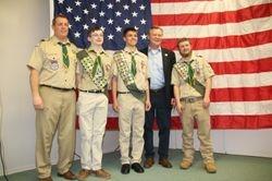 Mr. Concascia, Senator Formica, & our newest Eagles